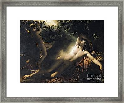 The Sleep Of Endymion Framed Print by Anne Louis Girodet de RoucyTrioson