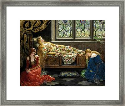 The Sleeping Beauty  Framed Print by John Collier