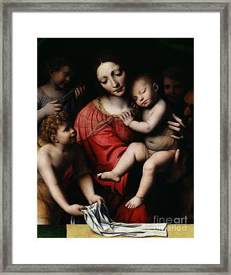 The Sleeping Christ Framed Print by Bernardino Luini