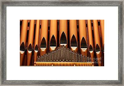 The Small Wall Organ Pipes.   # Framed Print by Rob Luzier