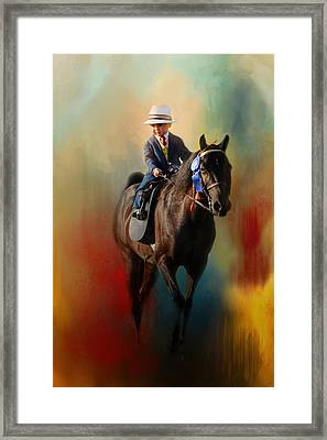 The Smallest Rider Framed Print by Jai Johnson
