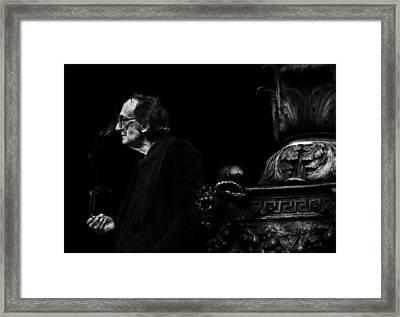 The Smoking Man Framed Print by Todd Fox