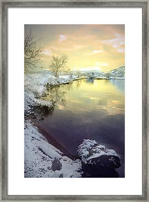 The Snow And The Clouds Framed Print by Tara Turner