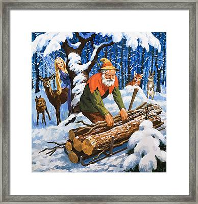 The Snow Fairy Framed Print by English School
