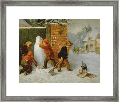 The Snowman Framed Print by Edward Charles Barnes
