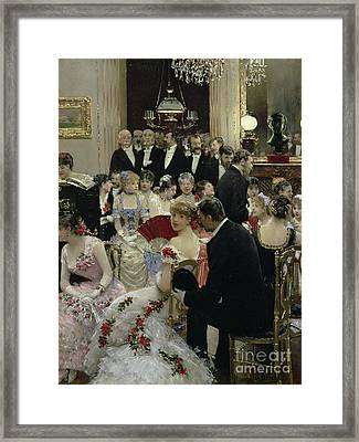 The Soiree Framed Print by Jean Beraud