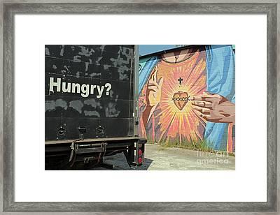 Spiritual Hunger Framed Print by Joe Jake Pratt