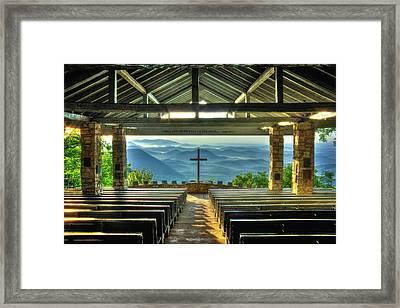 Pretty Place Chapel The Son Has Risen Framed Print by Reid Callaway