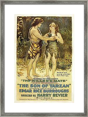 The Son Of Tarzan - The Killer's Mate 1921 Framed Print by Mountain Dreams
