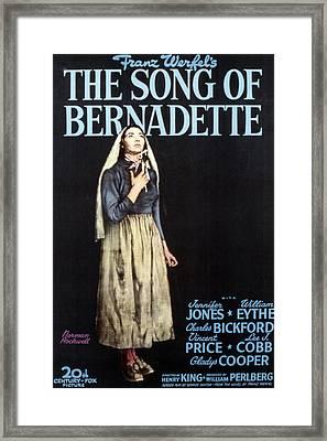 The Song Of Bernadette, Jennifer Jones Framed Print by Everett