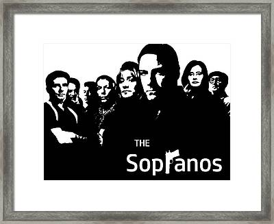 The Sopranos Poster Framed Print by Dan Sproul