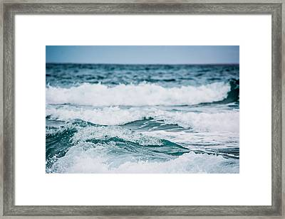 The Sound Of Crashing Waves Framed Print by Shelby Young
