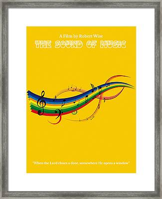 The Sound Of Music Minimalist Movie Poster  Framed Print by Celestial Images