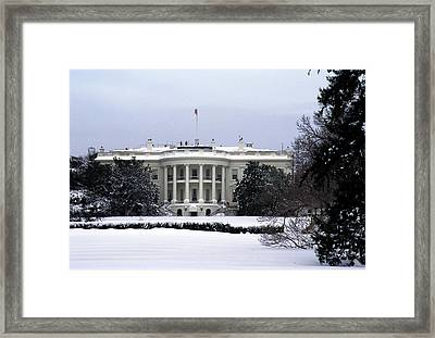 The South View Of The White House Framed Print by Stacy Gold