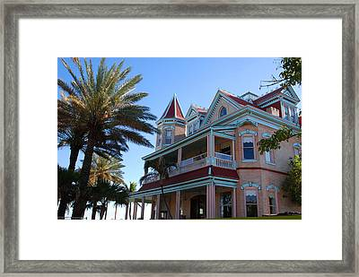 The Southernmost House In Key West Framed Print by Susanne Van Hulst