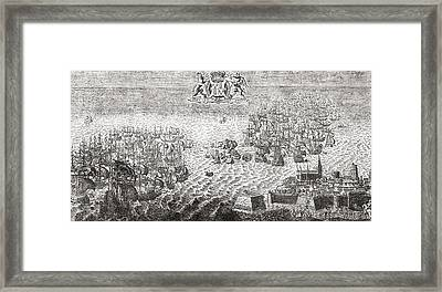 The Spanish Armada Flying To Calais Framed Print by Vintage Design Pics