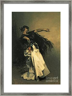 The Spanish Dancer Framed Print by John Singer Sargent