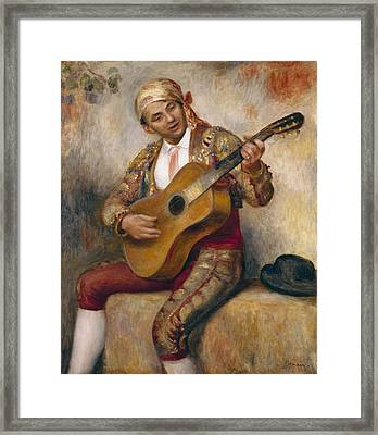 The Spanish Guitarist Framed Print by Pierre Auguste Renoir