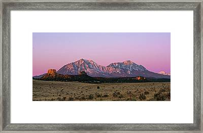 The Spanish Peaks Framed Print by Aaron Spong