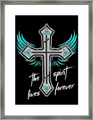 The Spirit Lives Forever II Framed Print by Melanie Viola