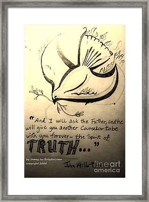 The Spirit Of Truth Framed Print by Jamey Balester