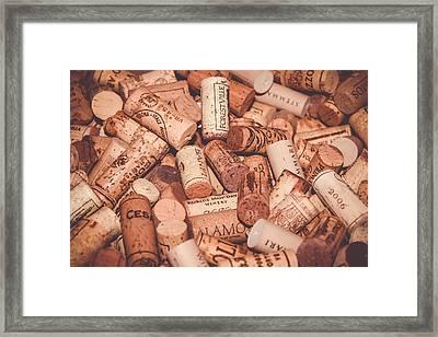 The Spirit Of Wine Framed Print by Colleen Kammerer
