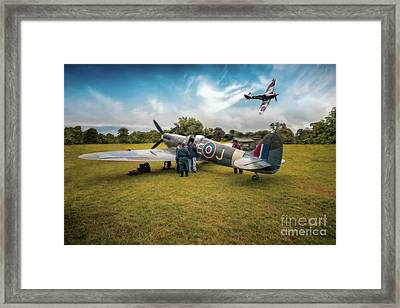 The Spitfire Parade Framed Print by Adrian Evans