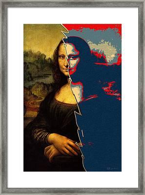 The Splices - Mona Lisa Framed Print by Serge Averbukh