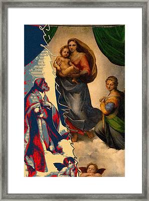 The Splices - Sistine Madonna Framed Print by Serge Averbukh