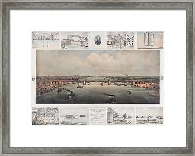 The St. Louis Bridge Now Named Eads Framed Print by Everett