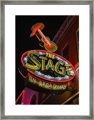 The Stage On Broadway Framed Print by Stephen Stookey