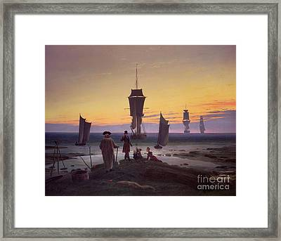 The Stages Of Life Framed Print by Caspar David Friedrich