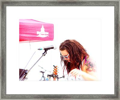 The Stares Vocalist Framed Print by Paul Wash
