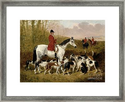 The Start  Framed Print by John Frederick Herring Snr