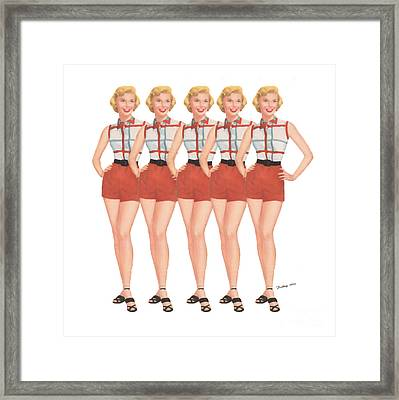 The Stepford Wives Framed Print by Edward Fielding