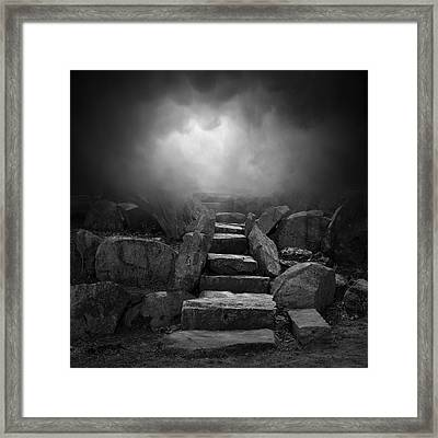 The Stone Steps I Framed Print by Dave Gordon