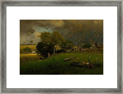 The Storm Framed Print by George Inness
