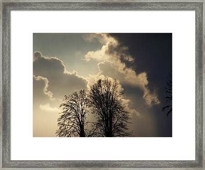 The Storm Iv Framed Print by Laurie Kidd