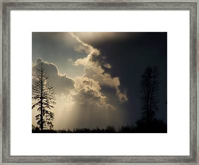 The Storm Looms II Framed Print by Laurie Kidd