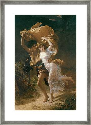 The Storm Framed Print by Pierre-August Cot