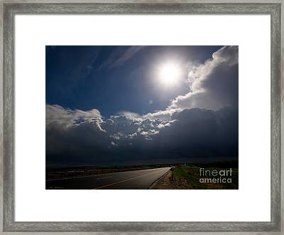 The Straight Way To The Storm Framed Print by Arik Baltinester