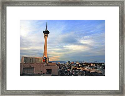The Stratosphere In Las Vegas Framed Print by Susanne Van Hulst