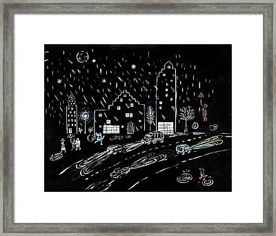 The Street Framed Print by Alexandra Sternin