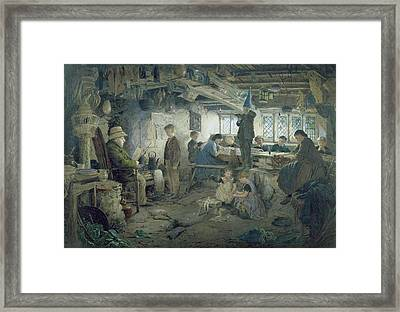 The Strict School Master Framed Print by William Jabez Muckley