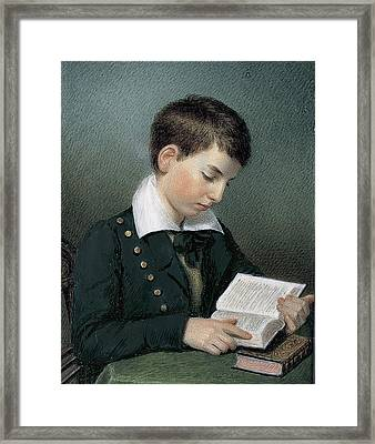 The Studious Youth. Master Edward Appleton Framed Print by Sarah Goodridge