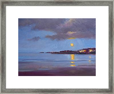 The Sturgeon Moon Framed Print by Dianne Panarelli Miller