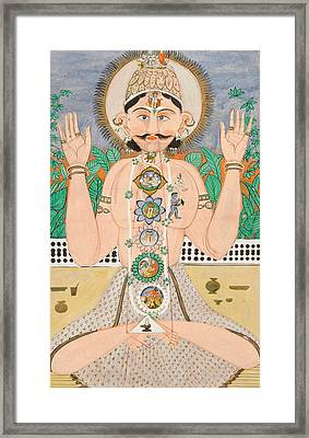 The Subtle Body And The Chakras Framed Print by Indian School