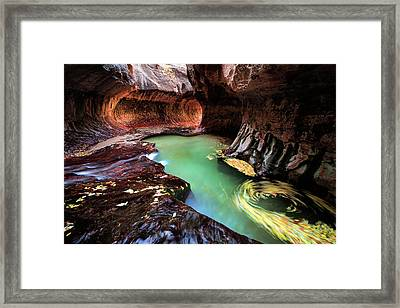 The Subway Swirls Framed Print by Edgars Erglis