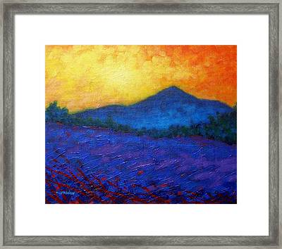 The Sugar Loaf - County Wicklow Framed Print by John  Nolan