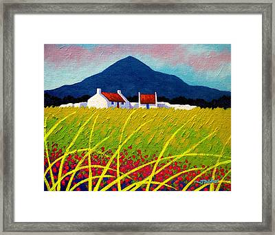 The Sugar Loaf County Wicklow Framed Print by John  Nolan